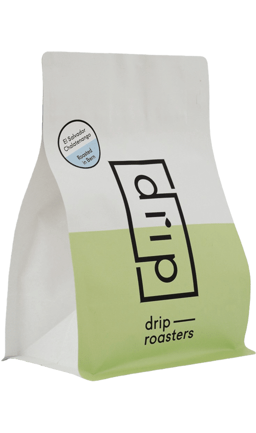 Drip Roasters El Salvador Chalatenango Espresso coffee package cover