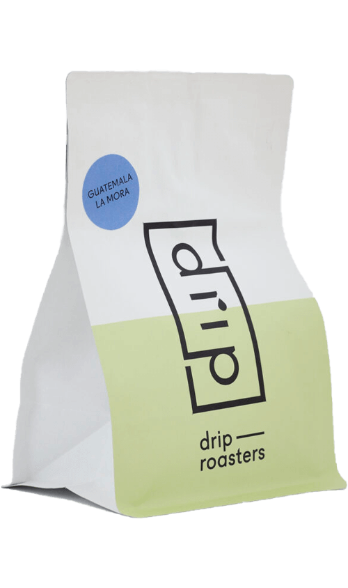 Drip Roasters Guatemala La Mora espresso coffee package cover