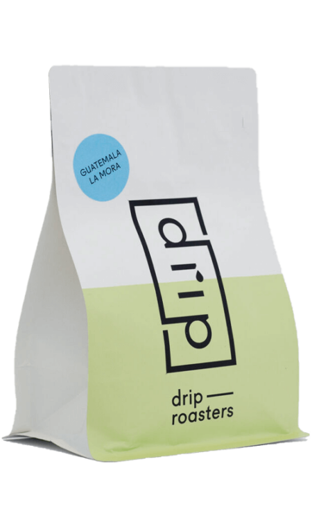 Drip Roasters Guatemala La Mora filter coffee package cover