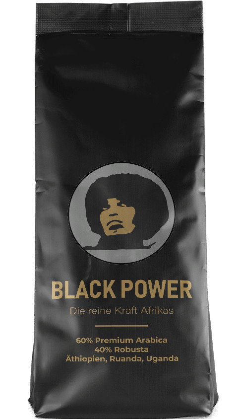 Kaffeepur Black Power coffee package cover