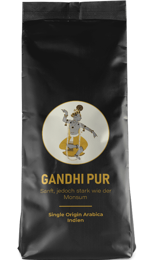 Kaffeepur Gandhi Pur coffee package cover
