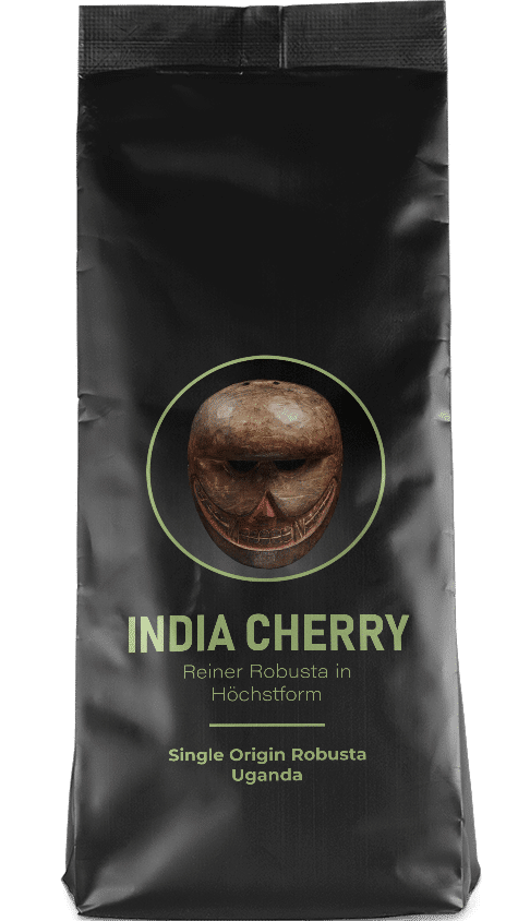 Kaffeepur India Cherry coffee package cover