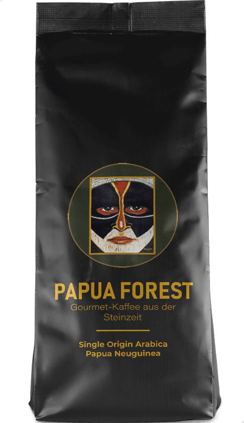 Kaffeepur Papua Forest coffee package cover