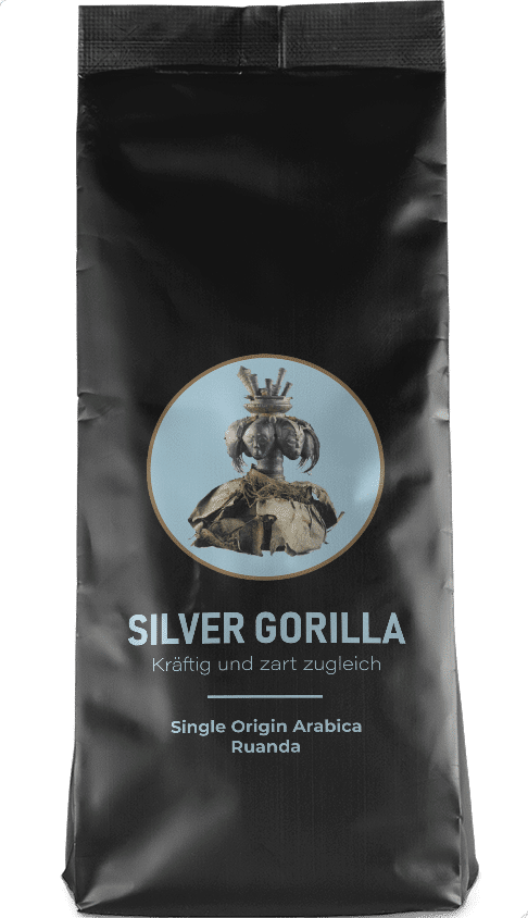 Kaffeepur Silver Gorilla coffee package cover