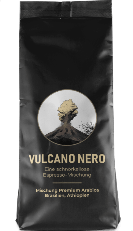 Kaffeepur Vulcano Nero Espresso coffee package cover