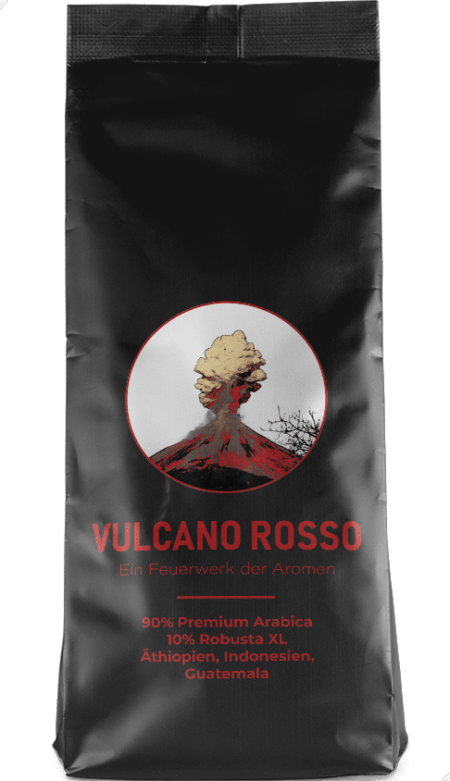Kaffeepur Vulcano Rosso coffee package cover