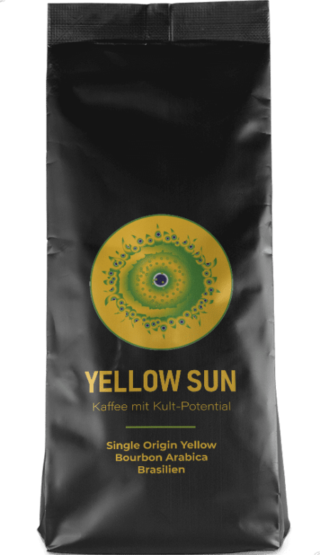 Kaffeepur Yellow Sun coffee package cover