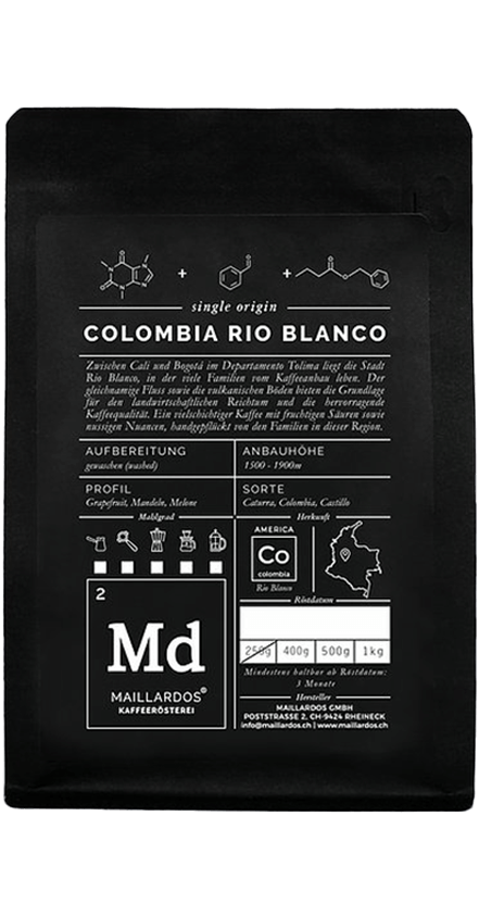 Colombia Rio Blanco Coffee Package Cover