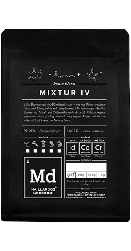 Mixtur IV Coffee Package Cover