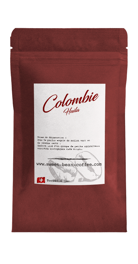 Sweet Bean Colombie Huila coffee package cover