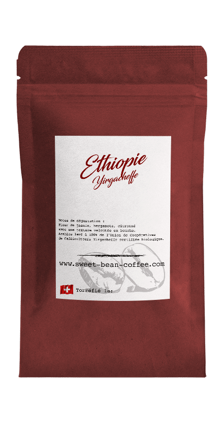 Sweet Bean Ethiopie Yirgacheffe coffee package cover