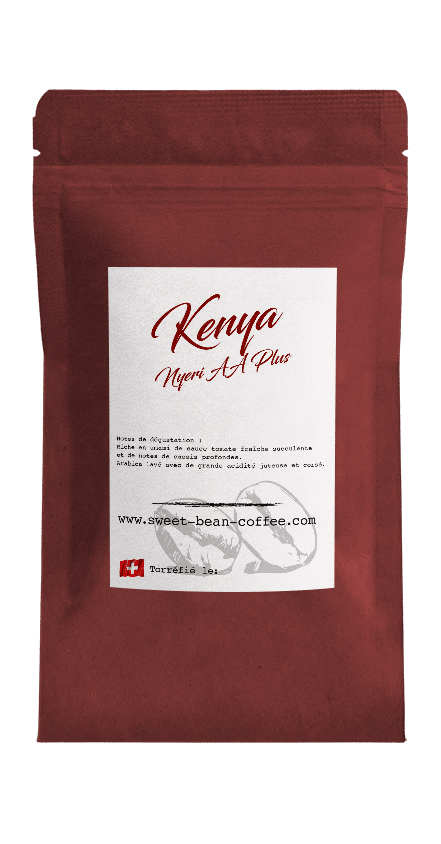 Sweet Bean Kenya Nyeri AA Plus coffee package cover