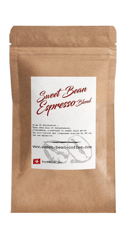 Sweet Bean Espresso Blend coffee package cover